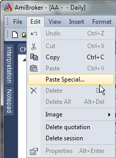 Paste Special