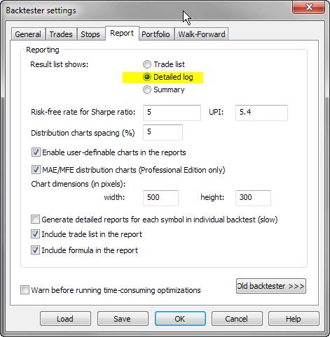 Report - Detailed log