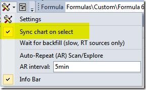 Sync chart on select