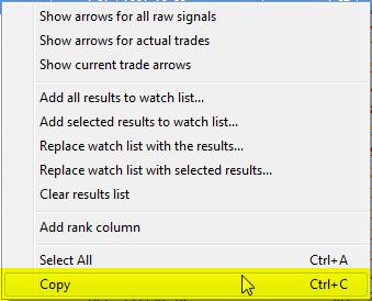 Copy Trade List